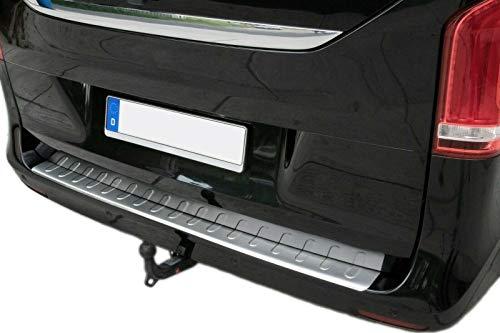 Recambo CT-LKS-1600 Protector de Borde de Carga de Acero Inoxidable Mate para Mercedes Vito W447, Clase V a Partir de 2014-130 cm, Large