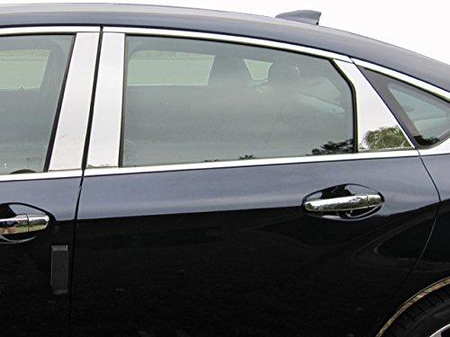 QAA fits 2014-2020 Chevrolet Impala 6 Piece Stainless Pillar Post Trim PP54136