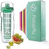 Hydracy Botella de Agua con Filtro infusor para Fruta 1Litro y Marcador de Hora -...
