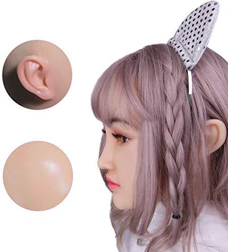 XUESHA Verschleiern Maskerade Für Mann Feminine Silikon Weibliche Headwear Realistische Göttin Gesicht Für Halloween Crossdresser,Braun