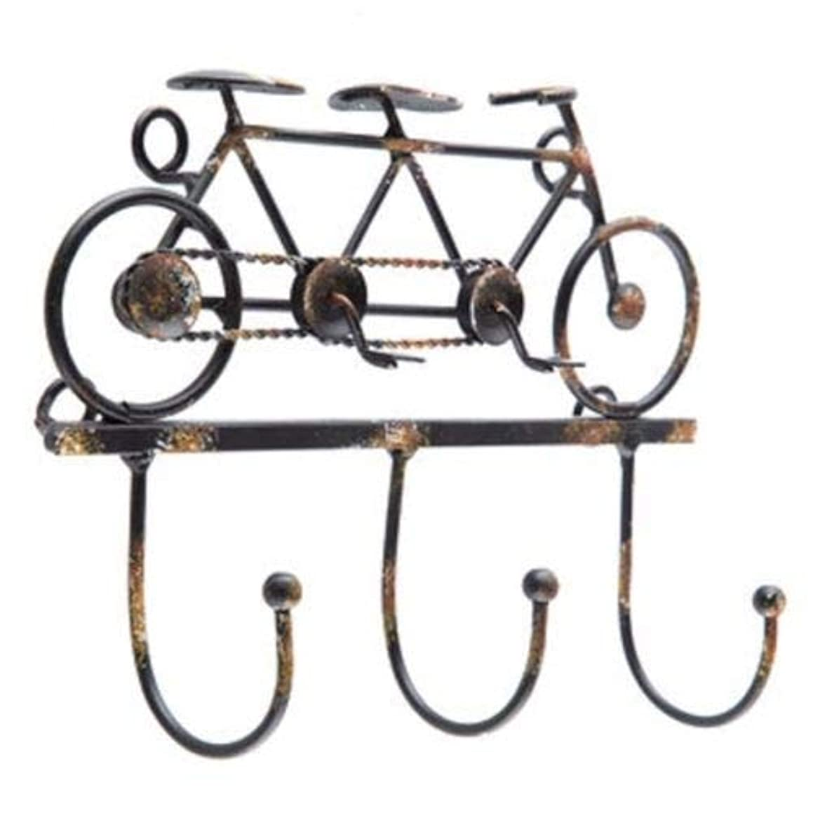 Ideal for Hanging Tandem Bicycle Metal Wall Hook Keys Hooks Home Wall Decor