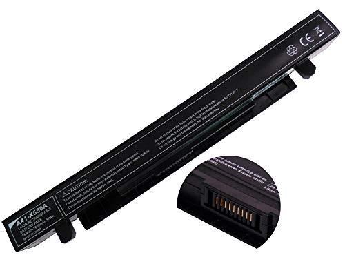 YASI MFG Laptop Batería 14.4V 2600mAh A41-X550A Batería para ASUS X450EA X550CA X550CC X550LA X550LB X550LD x550jd x550jk X550LN X550VC X550EP x550we X552CL X552EA fx50jk F550 C R510CA Series Batería