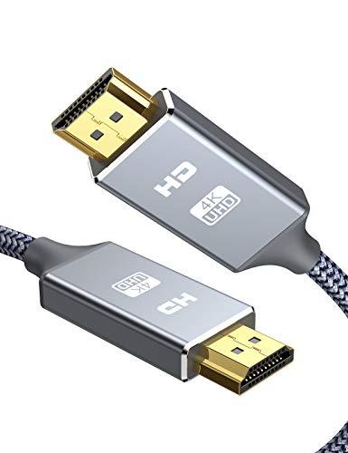 HDMI ケーブル 4k60hz 3m hdmi 2.0規格 HDR/3D/18Gbps 高速イーサネット対応 パソコンの画面をテレビに映す Apple TV,Fire TV Stick,PS4/3,Xbox, Nintendo Switchなど適用