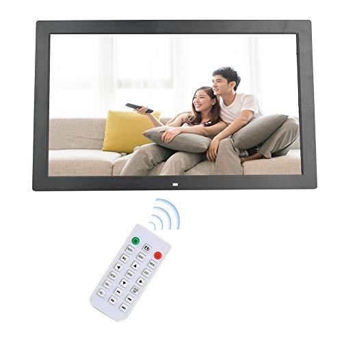 Digitaler Fotorahmen,18-Zoll Elektronischer Bilderrahmen 1366 * 768 (16: 9) HD-Breitbild, Intelligenter Fotorahmen mit Wifi-Fernbedienung, unterstützt Uhr / Kalender / MP3 / AV / MPG / MP4.(schwarz)