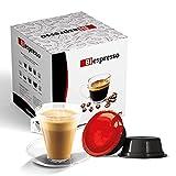 Biespresso, Cápsulas compatibles con Lavazza A Modo Mio, Espressino Cortado, 50 cápsulas + Kit de accesorios (paletas y vasos)