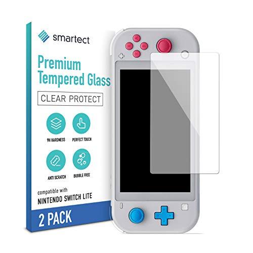 smartect Schutzglas kompatibel mit Nintendo Switch Lite [2 Stück] - Tempered Glass mit 9H Härte - Blasenfreie Schutzfolie - Anti-Kratzer Displayschutzfolie