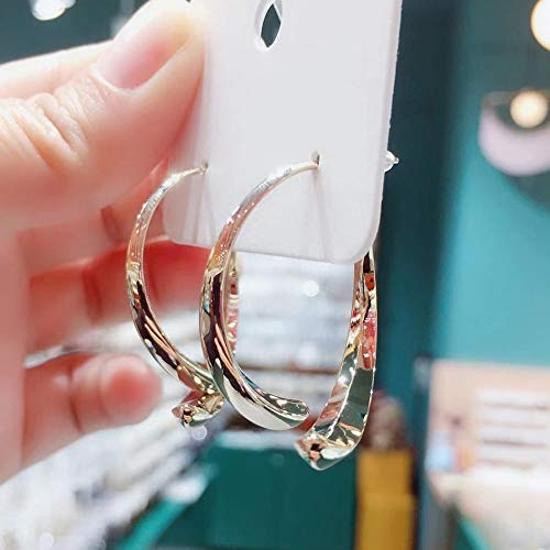 Simple Curved Earrings for Women Girls Wire Dangle Hoop Curved Studs Circle Hoops