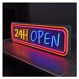 WMLWML Letrero de neón al Aire Libre Resistente al Agua LED Señalización Abierta Flex 3D Letras Personalizadas para Tienda Tienda Decoración Comercial (Color : AU Standard, Size : 50 * 25cm)