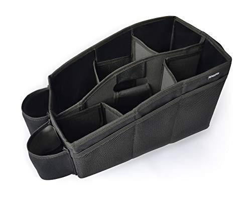 Auto Organizer, Utensilientasche für den Autositz mit 2 Befestigungsmöglichkeiten, wasserabweisende Rücksitztasche, Rücksitz-Spielzeugtasche, Sitz-Tasche für Spielzeug für die Rückbank
