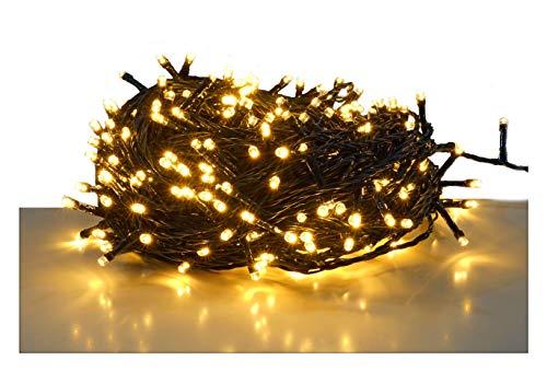 LED Lichterkette mit 80 LEDs - warmweiß - für den Innen- und Außenbereich (09 m - 80 LED)