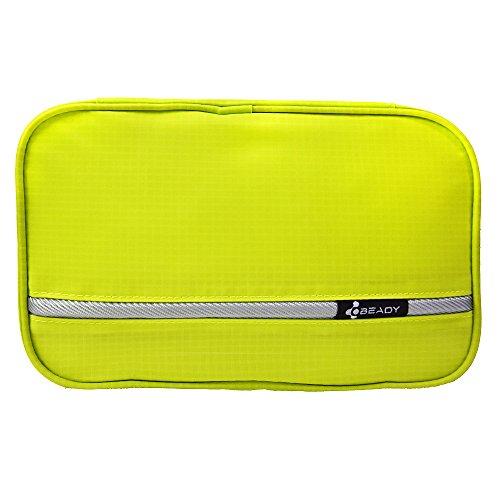 トイレタリーバッグ BEADY メイクボックス 化粧ポーチ トラベルポーチ 整理 バッグ 男女兼用 旅行用 収納 旅行用ポーチ グリーン