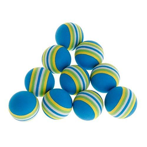 Mingi 10 Pcs/Set Ball Pet Toys EVA Soft Interactive Cat Dog Puppy Kitten Play Funny Gifts Balls Pets, Blue