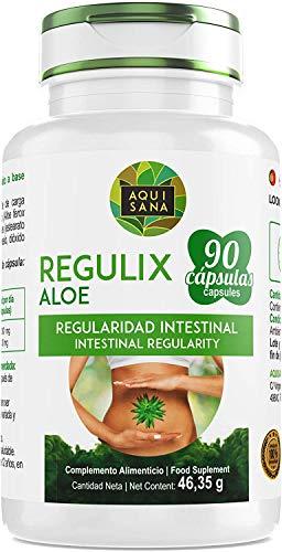 Detox Adelganzante - Detox Aloe Vera | Regulix Aloe -Aquisana | Detox Depurativo, Diuretico y Laxante Natural Ayuda a Eliminar Toxinas y Favorece Nuestro Sistema Digestivo | 90 Capsulas