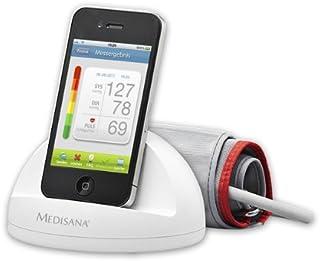 Medisana iHealth - Tensiómetro (funcionamiento mediante dispositivo móvil), color blanco, versión alemana