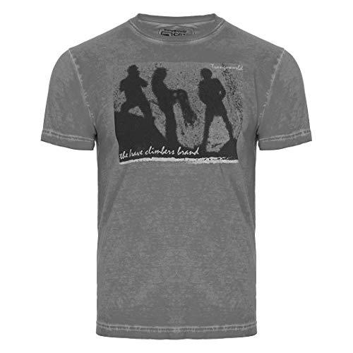 Trangoworld Brave T-Shirt Homme, Gris métallique, M