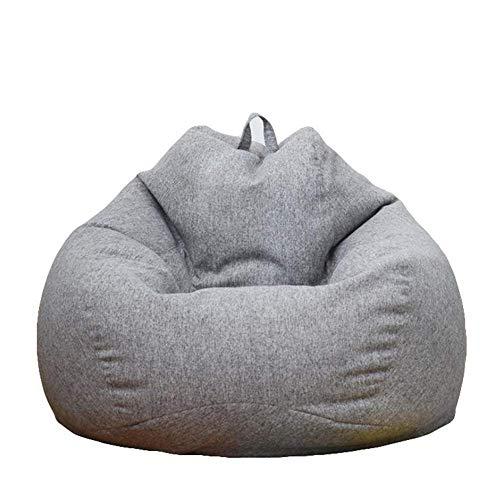 LXH-SH Sofá Perezoso Frijol Silla del Bolso de Adulto Silla Perezosa del sofá Suelo del establo cómodo hogar o jardín Apropiado for Juegos AAA (Color: Gris, tamaño: 100 * 120 cm) Sofá Lento