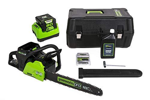 GreenWorks CS80L210 18-Inch 80V Cordless Chainsaw