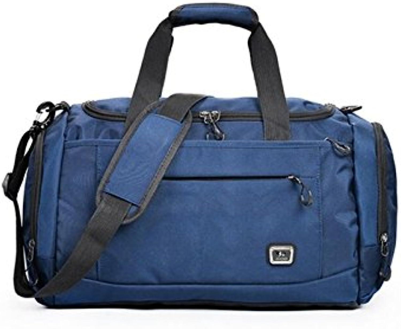 18b85f038 Hiking Outdoor Large Capacity Gym Bag Sports Holdall Travel Weekender Duffel  Bag(Dark bluee)