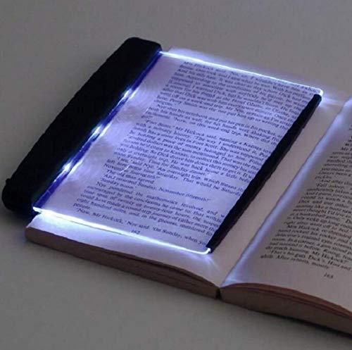 143 Tragbare Lesezeichen Licht Lightwedge Buch Licht LED-Lesung Helles Licht Lampenbrett Familienstudie Licht Augenpflege Leselampe Buch Lightwedge, zum Lesen im Bett, Auto, Nacht Lesen