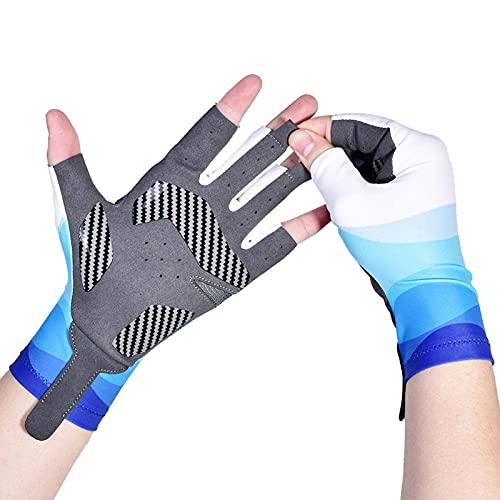 Estrella-L Guantes de pesca, guantes especiales de pesca de verano, ultrafinos, transpirables, protectores de protección solar sin dedos, para equipos de kayak al aire libre