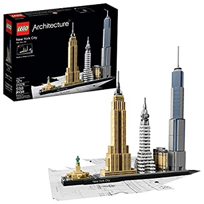 LEGO Architecture New York City 21028, Build It Yourself New York Skyline Model Kit for Adults and Kids (598 Pieces) from LEGO