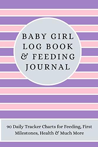 New Baby Girl Log Book & Feeding Journal: 90 Daily Tracker Charts for Feeding, First Milestones, Hea