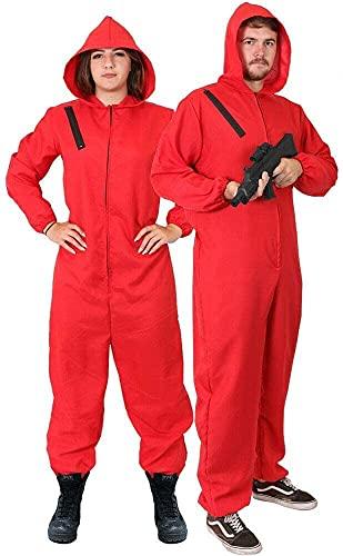 I LOVE FANCY DRESS LTD Disfraz DE LADRN DE Bancos DE Disfraces para Adultos - Mono Rojo Disfraz DE CASA DE Papel - Disfraz DE TELEVISIN (X-Grande)