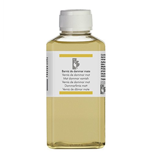 Lienzos Levante Barniz de Dammar Mate, Botella de 250 ml
