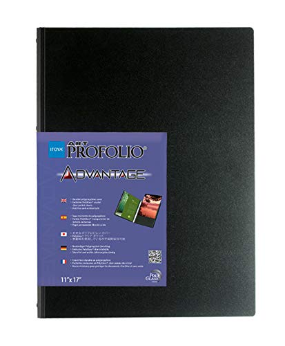 ProFolio by Itoya, Art Profolio Advantage, 24 Sheets Presentation Book - Portrait, 8 x 10 Inches