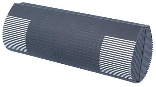 edles Doppel-Brillenetui THOMMY mit Abtrennung in schwarz-silber mit Prägung