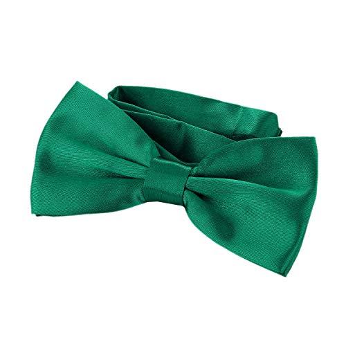 DonDon Edle smaragdgrüne Fliege bzw. Schleife mit Haken - bereits gebunden und verstellbar