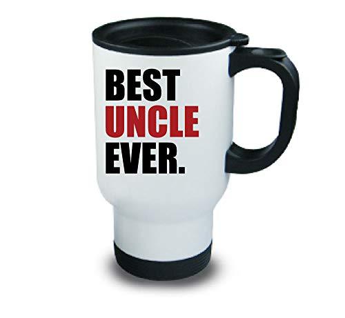 meilleur oncle jamais Métal tasse de voyage Rouge Fête des Pères Anniversaire Noël