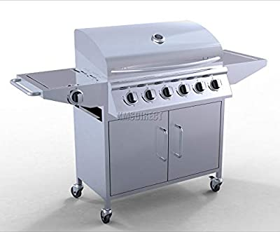 Portable Barbecue Gas Grill Stainless Steel 6 Burner BBQ OGD21
