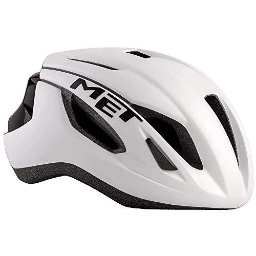 Met Casque Strale Blanc Noir S(52-56) Cyclisme Mixte Adulte