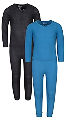 Snozu Girl's 2-Pack Thermal Warm Underwear Top and Pant Set