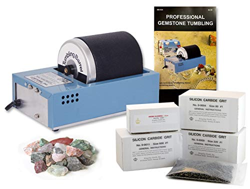 Lortone 081-091 3A 3 lb Hobby Rotary Rock Tumbler Polisher, Polish Kit, & Rocks