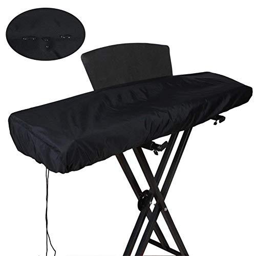 61/88 Tasten-Abdeckung/Wasserdicht Elektronische Klaviertastatur Staubschutz mit Kordelzug aus 420D Oxford/dehnbar 61/88 Key Musik Keyboard Cover 88 Key