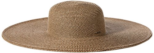 NINE WEST Women's Packable Super Floppy Hat, Brown Combo, One Size