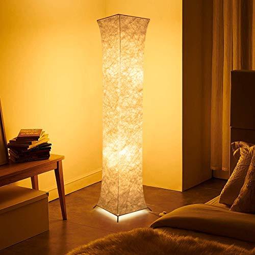 Fy-Light Lámpara de pie de tela alta para sala de estar (26 * 26 * 132CM(Tela cuadrada))