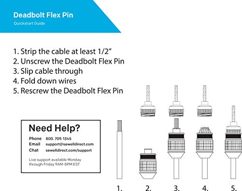 Deadbolt Flex Pin Banana Plugs for Spring Loaded Speaker Terminals, 6 Pairs Gold Plated Plugs