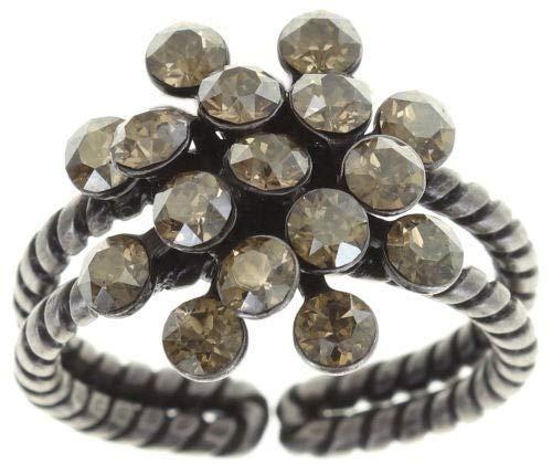 Konplott Magic Fireball Ring beige crystal golden shadow mini Mini (16mmØ) -Ring größenverstellbar