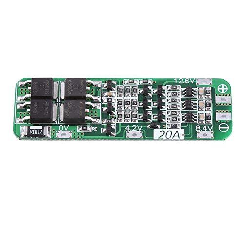 Wendry 20A 12,6 V lithium-batterij-oplaadkaart, Li-ion lithium-batterij 18650 met laadkaartmodule en automatisch herstel