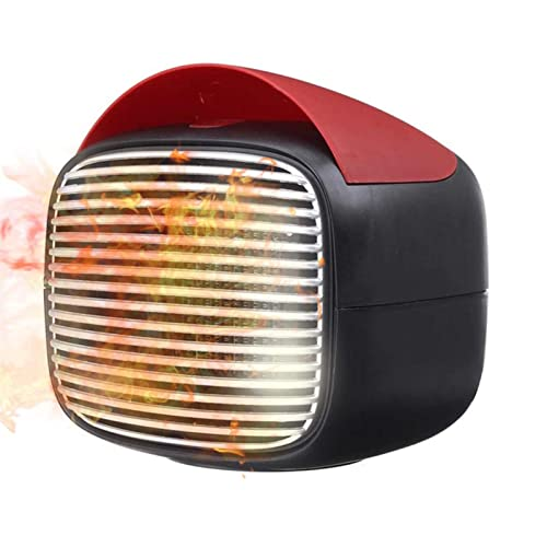 WGLL 800W Mini Calentador eléctrico de cerámica,Calor rápido,no se quemará,Espacio for la Oficina de Oficina for el hogar calefacción de calefacción,Ventilador cálido/frío,3 Engranajes Control táctil