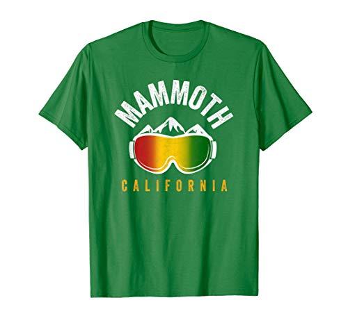 Rasta Mammoth CA Reggae Colors Ski and Snowboard Goggles T-Shirt