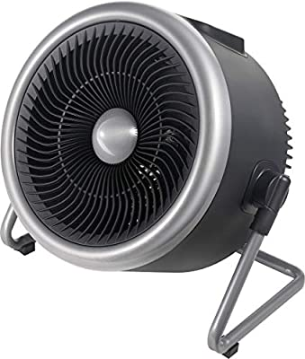 PELONIS Portable 2 in 1 Vortex Heater with Air Circulation Fan and Wide Tilting Angle Stand. Quiet Cooling & Heating Mode, Tip Over & Overheat Protection,for Home, Office Personal Use, Black (Renewed)