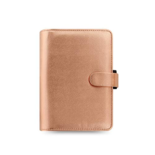 Notebooks A5 Journal for Adults Leather Notebook with Large Binder Notebook 6 Rings Refillable Travel Diary Book Office & School Supplies (Color : Gold)