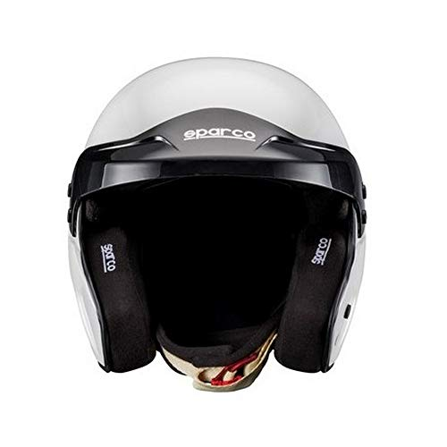 Sparco 0033534L Casco para Racing, Blanco , L