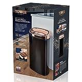 Tower Küchenabfalleimer Sensor Deckel berührungslos für hygienische Abfallentsorgung, Infrarot Technologie, 58 Liter, Schwarz und Rosegold - 2