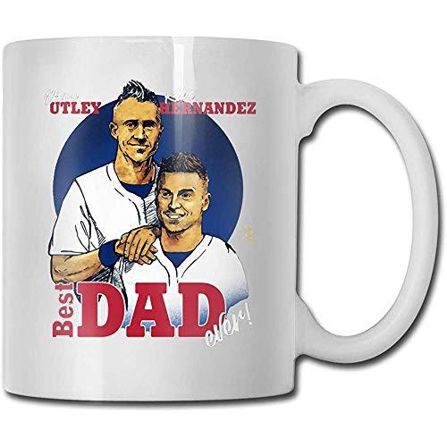 Chase Utley Kike Hernandez Bester Vater aller Zeiten Kaffeetasse Keramik Tasse Geschenk für Männer und Frauen, die Becher lieben