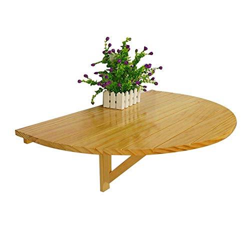QULONG Schreibtische Wandklapptisch Aus Holz, Halbrunder Esstisch Klappküche, Esstisch, Kindertisch, 2 Farben / 80X40cm,Woodgrain